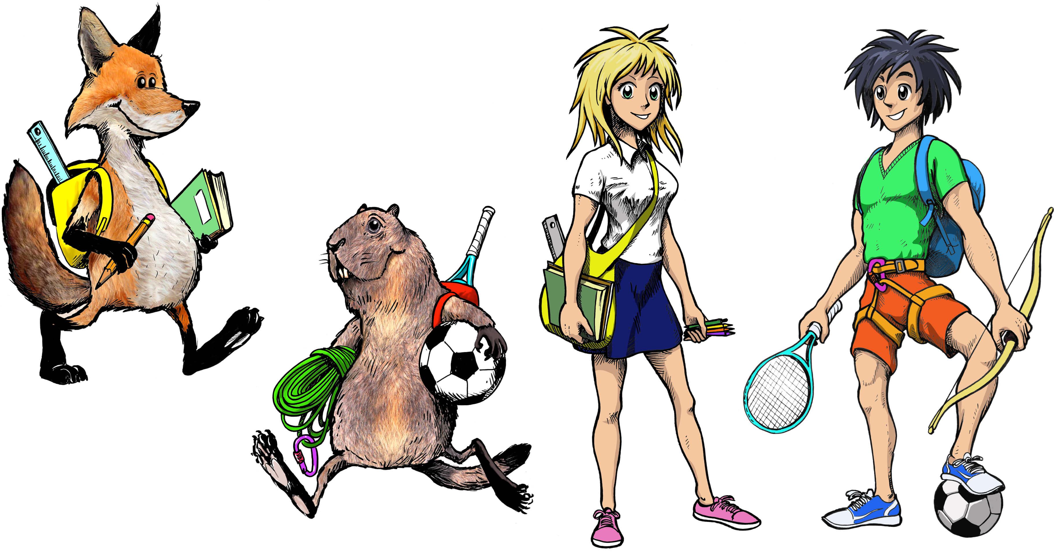 Illustrazioni realizzate per bambini e ragazzi