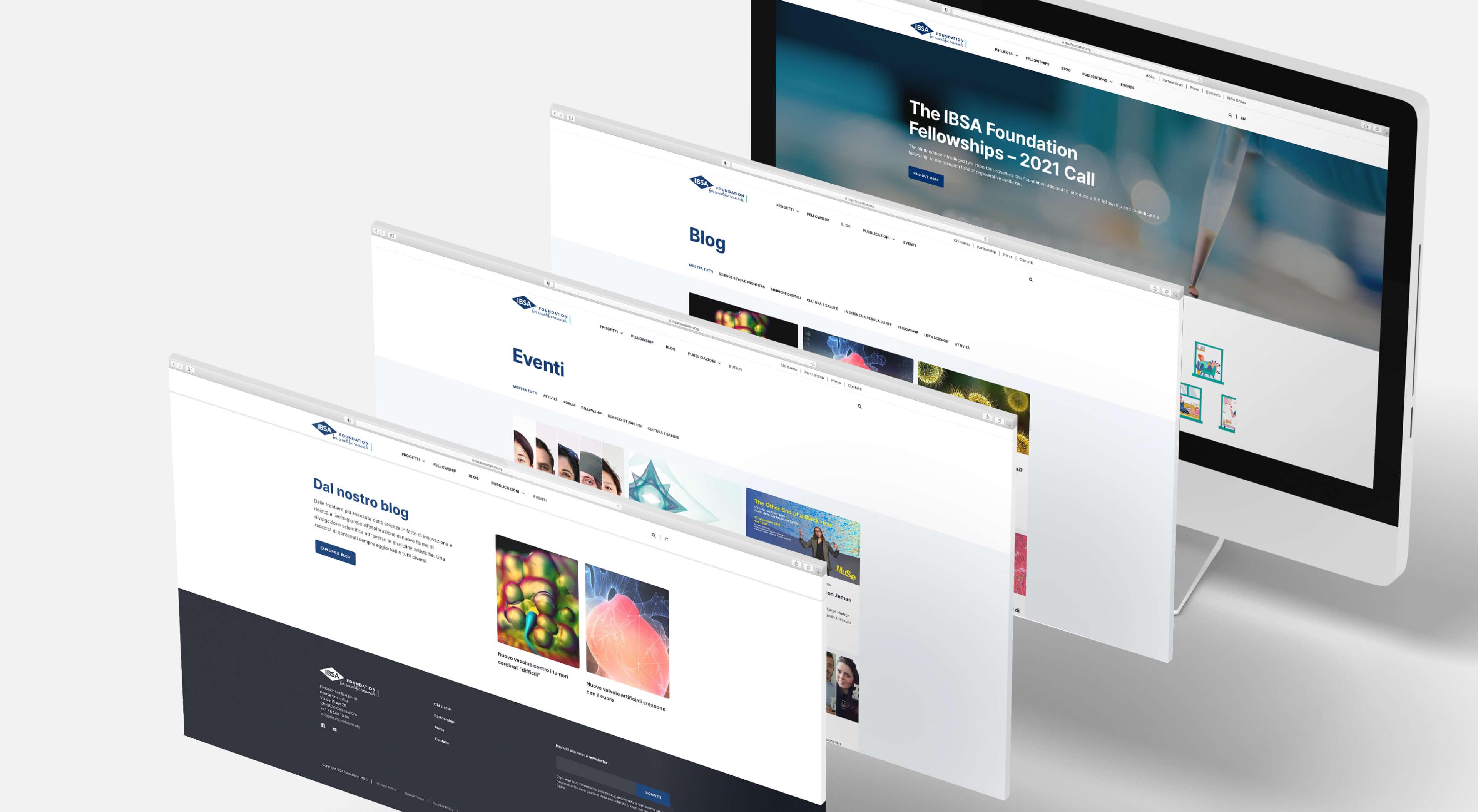 Schermata - Home, Blog e Eventi