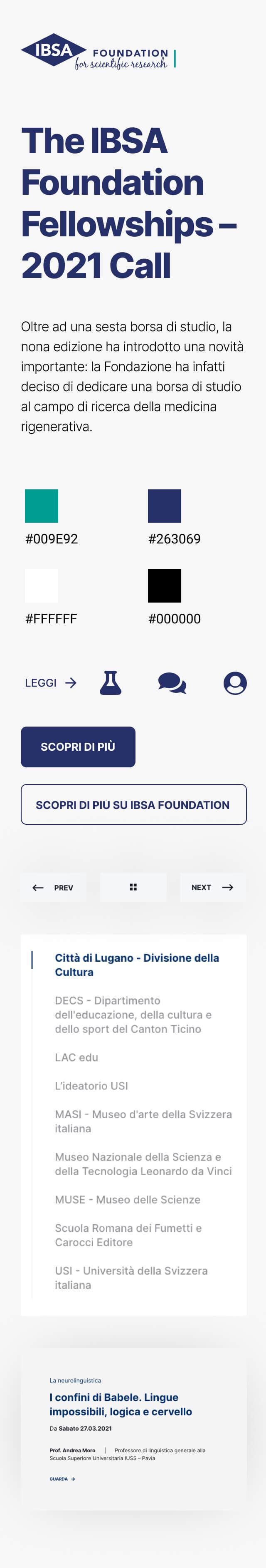 IBSA Foundation elementi grafici