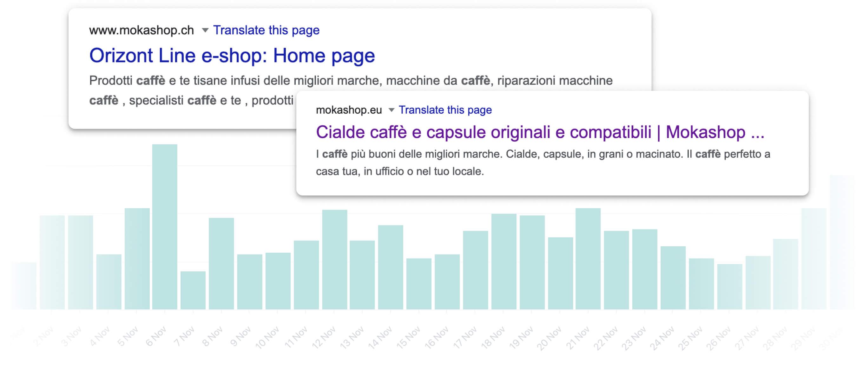 Le statistiche ci mostrano come viene indicizzato il sito nei motori di ricerca.